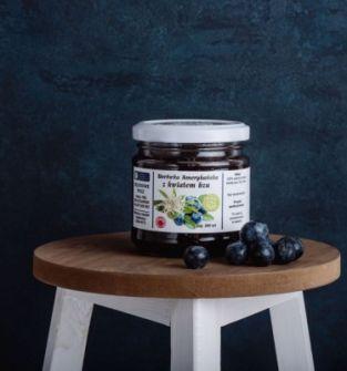 Konfitura borówkowa z kwiatem czarnego bzu bez cukru