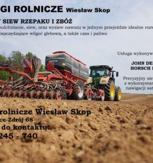Usługowy siew pasowy rzepaku i zbóż